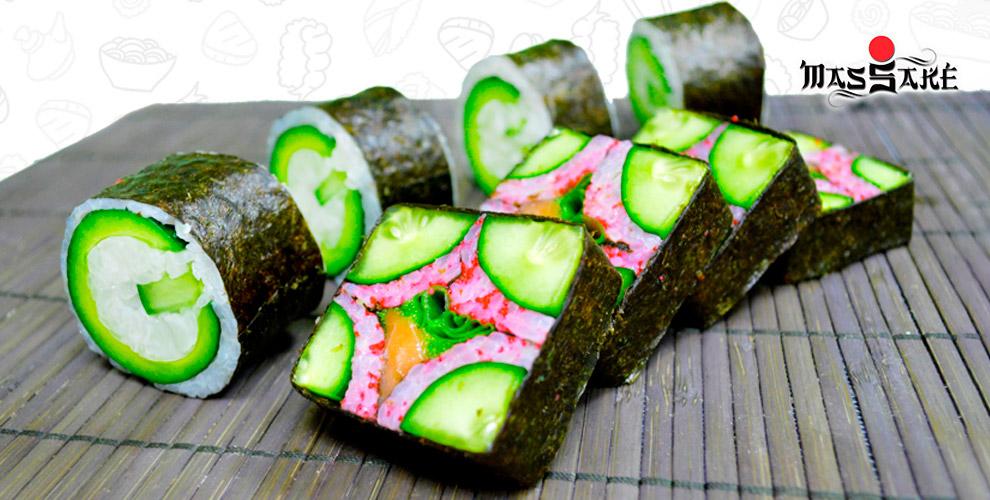 Суши, сеты, горячие закуски, классические роллы от ресторана доставки MasSake
