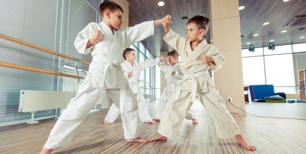 Занятия по карате и рукопашному бою для детей в клубе единоборств SEN RYU KEMPO KAN