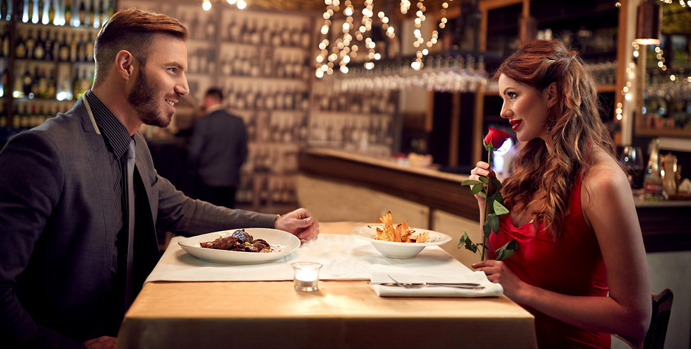 Романтический ужин наДень святого Валентина вкафе «Галерея»