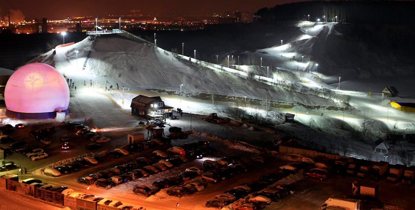 """""""Горнолыжный день"""", прокат лыж, сноуборда и катание на тюбинге в Freestyle Extreme Park"""