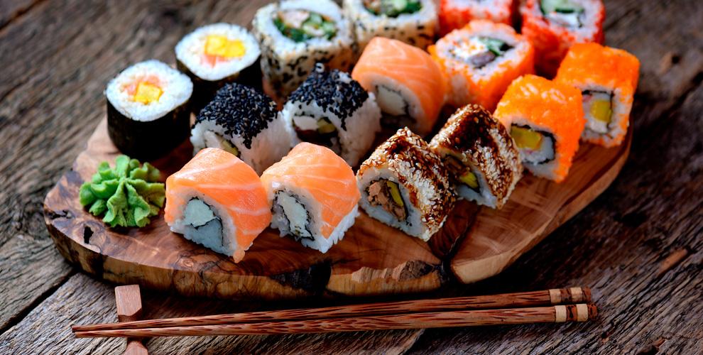 Меню суши, наборов, салатов и закусок от службы доставки MIKA SUSHI