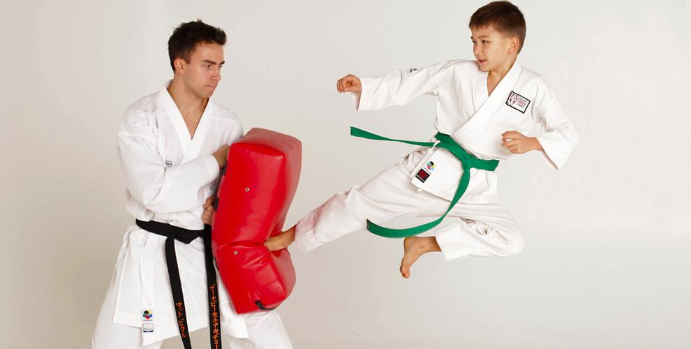 Занятия по карате для детей в клубе единоборств SEN RYU KEMPO KAN