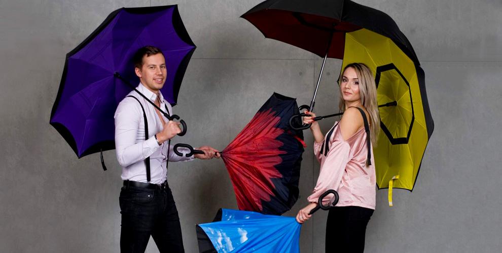 """Умный """"обратный"""" зонт и рюкзак """"Антивор"""" от интернет-магазина """"Покупкапроста"""""""