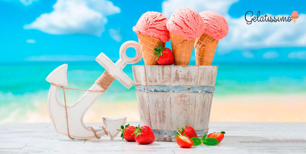 Мороженое сразнообразными вкусами откафе Gelatissimo