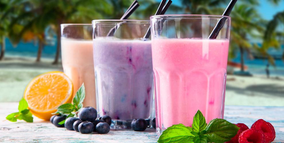 Молочные коктейли имороженое сразличными вкусами