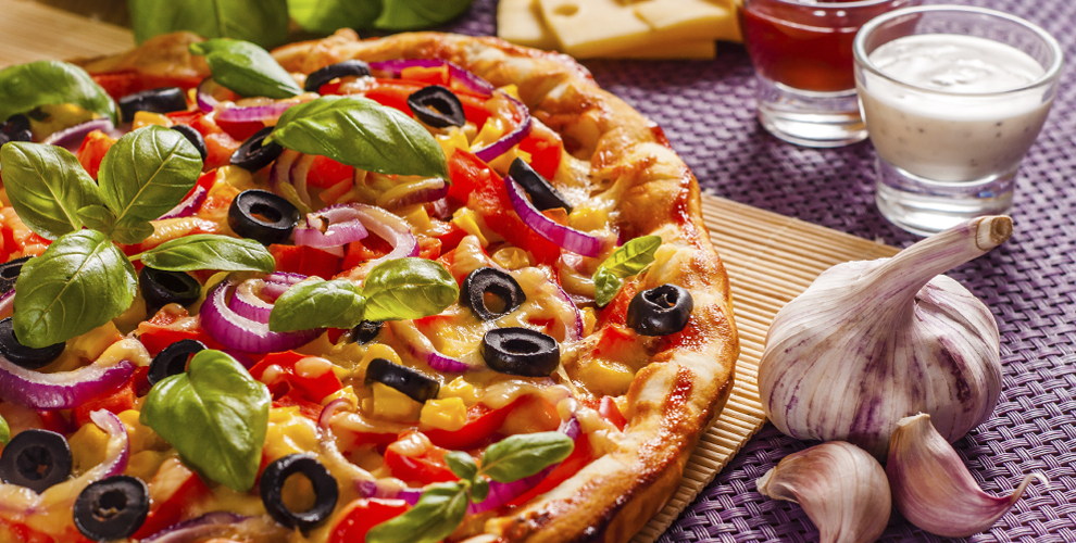 Пицца, кесадилья, холодные игорячие закуски