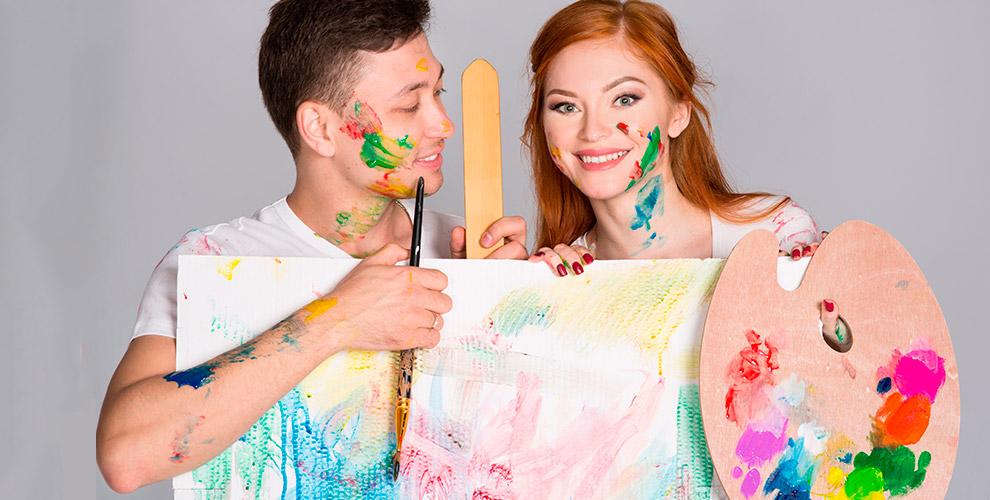 Занятия акварельной живописью и романтический мастер-класс в студии «Арт-Джем»