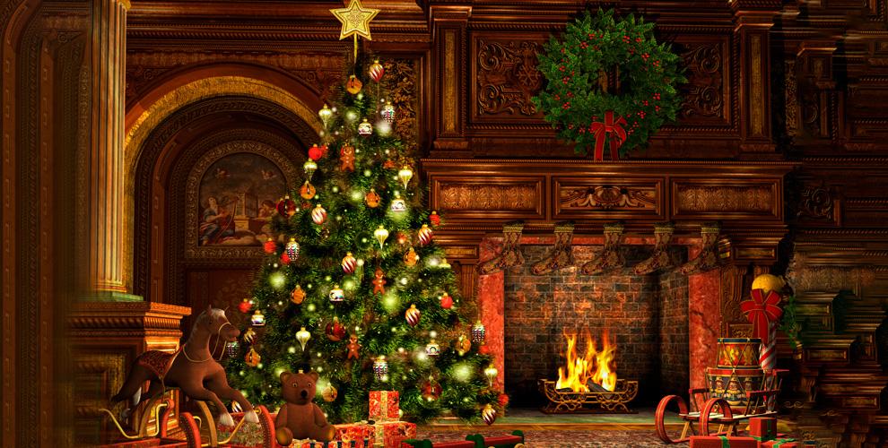 Живая новогодняя сосна игирляндаоткомпании «Живые ёлки»