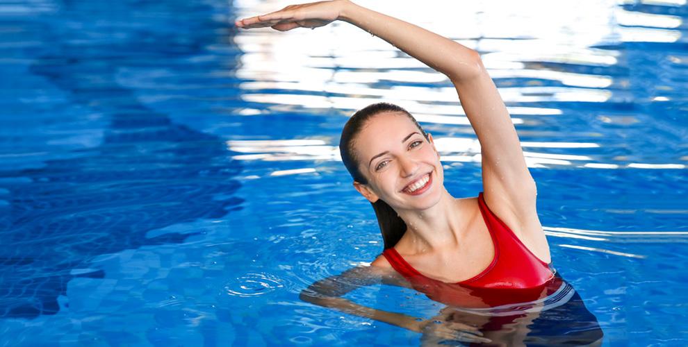 Аквааэробика, занятия йогой и фитнесом для дам элегантного возраста в клубе «Акватик»
