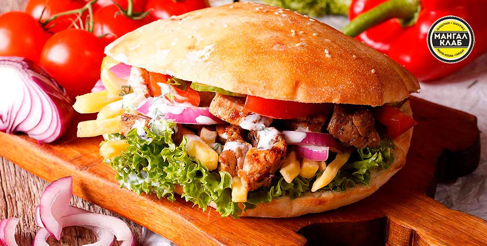 Пицца, карси-хоровац, гирос и тан в кафе быстрого питания «Мангал Клаб»