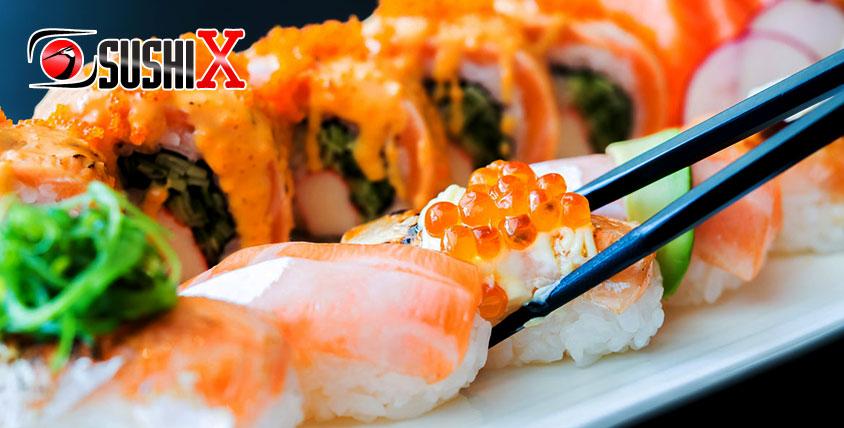 Ресторан доставки SUSHI X - роллы от 35 руб.
