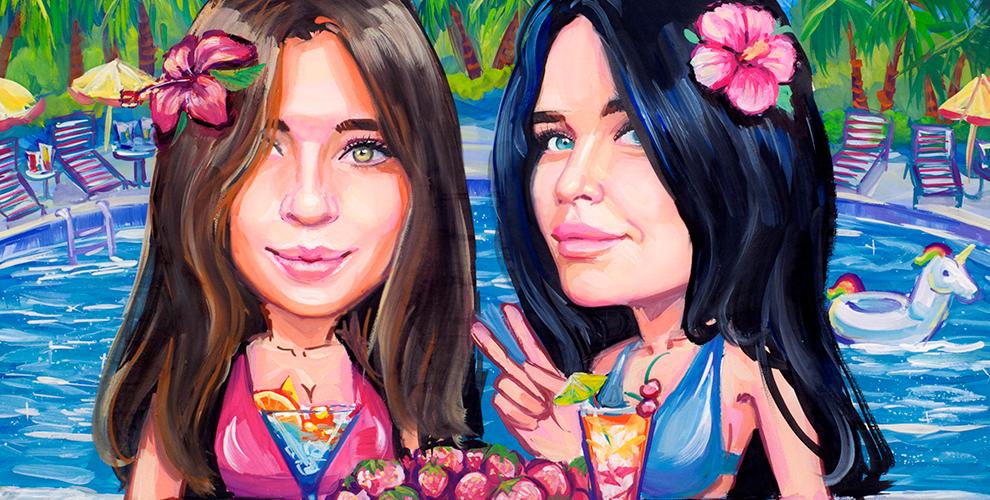 Шаржи, портреты маслом, карандашом и красками от арт-мастерской Поляковой Марины