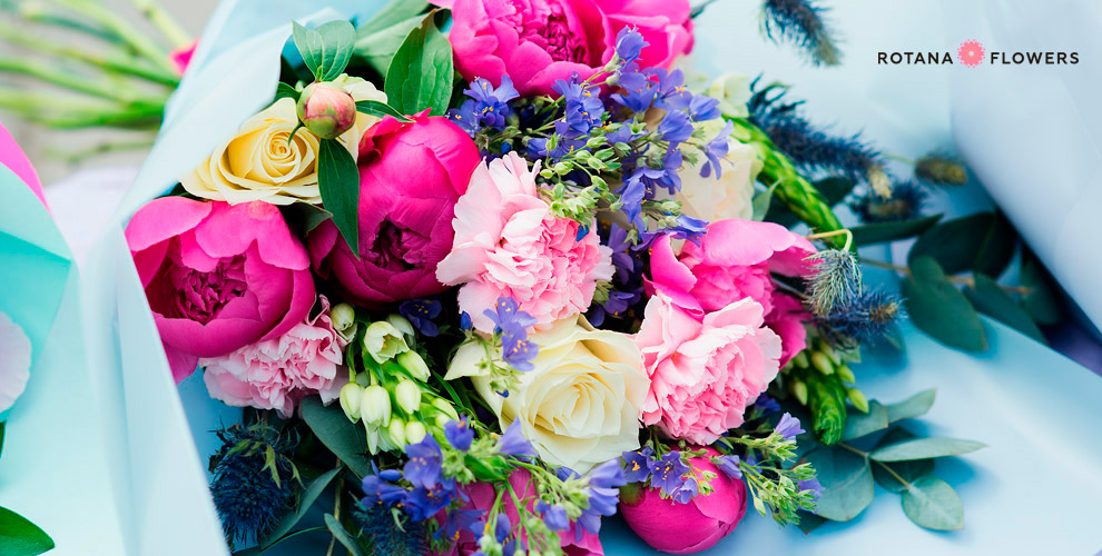 Rotana Flowers: розы, ирисы, лилии, тюльпаны ибукеты