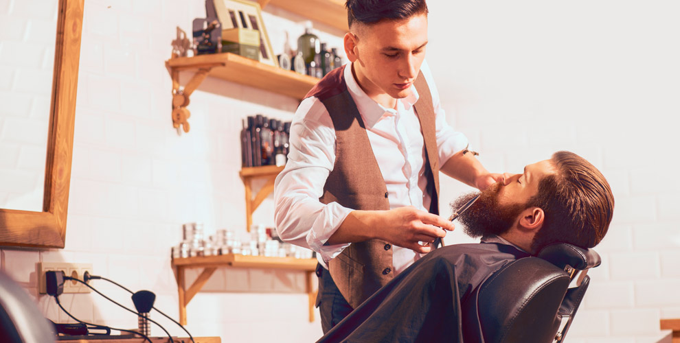 Мужские идетские стрижки, коррекция бороды вбарбершопе «Золотая молодежь»