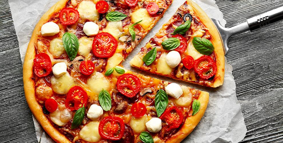 Меню пиццы, супов и салатов в ресторане «Арагац»