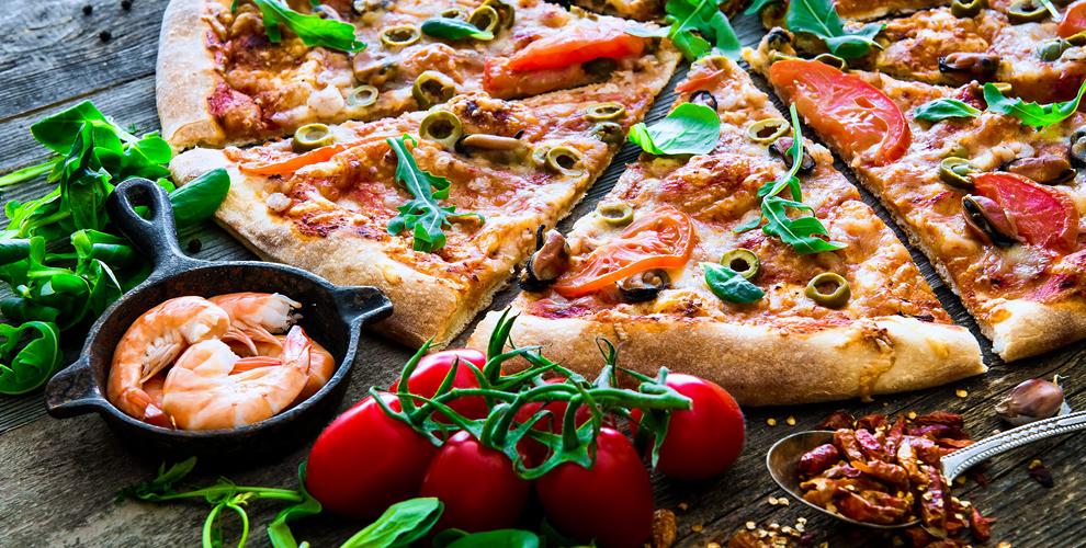 Пицца, салаты, напитки, пироги, роллы, сладкие пироги от службы доставки Via Pizza