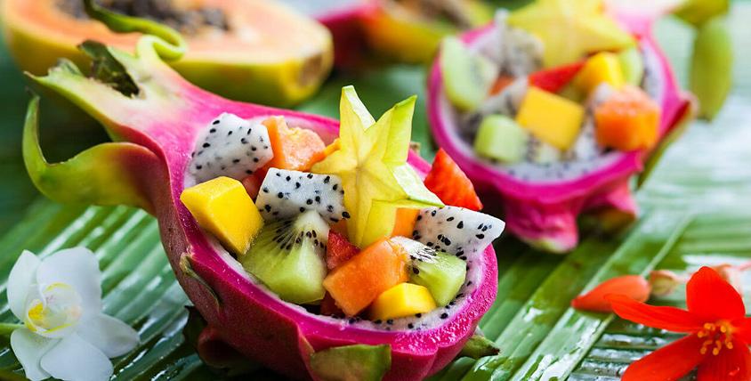 Рецепт приготовить фруктовый салат ананасе фотографиями ананас нужно разрезать половинки