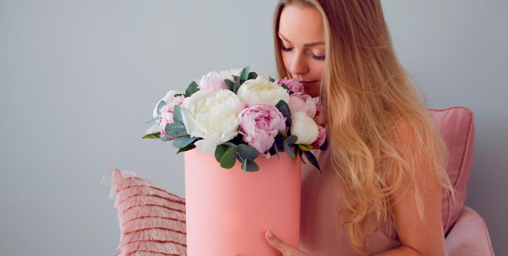 Цветы, композиции в коробке и букеты от интернет-магазина «Жасмин»