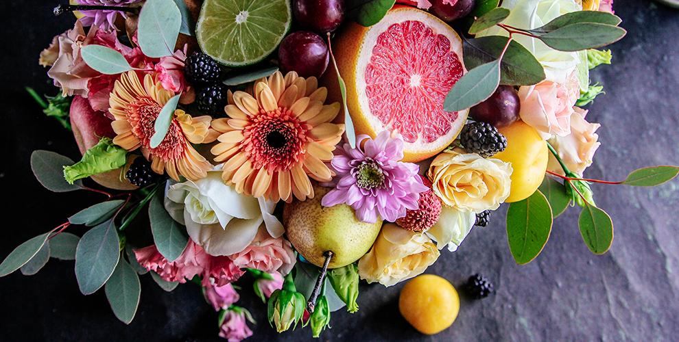 Букеты из фруктов и овощей от мастерской «ДоннаФлора»