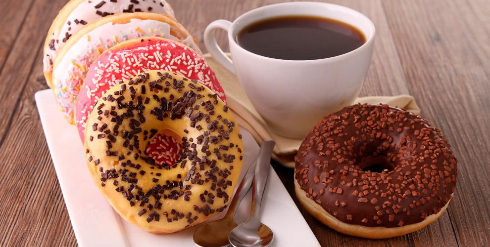 «Сытый уголок»: американо, латте, капучино, эспрессо ипончики сначинкой навыбор