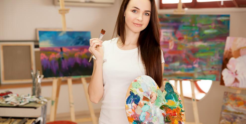 Мастер-класс «Рисование акриловыми красками на холсте» в творческой студии Holst
