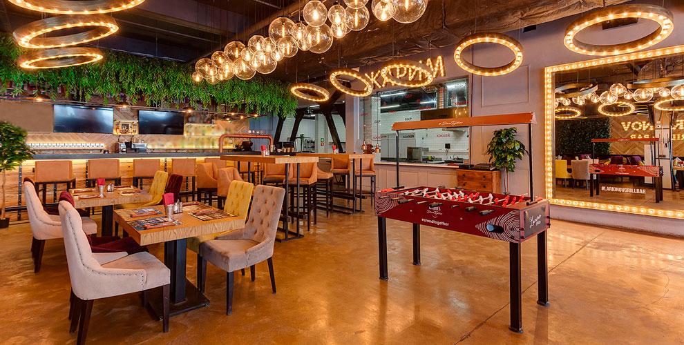 Основное меню изавтраки вресторане сети Larionov Grill &Bar
