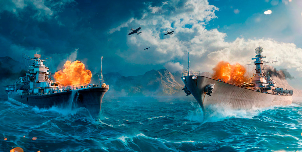 Линкор Nassau икрейсер Albany IIвонлайн-игре World ofWarships