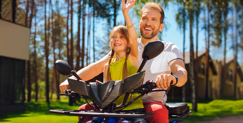 Катание наквадроцикле длявзрослых идетей наквадродроме «Мотор Парк»