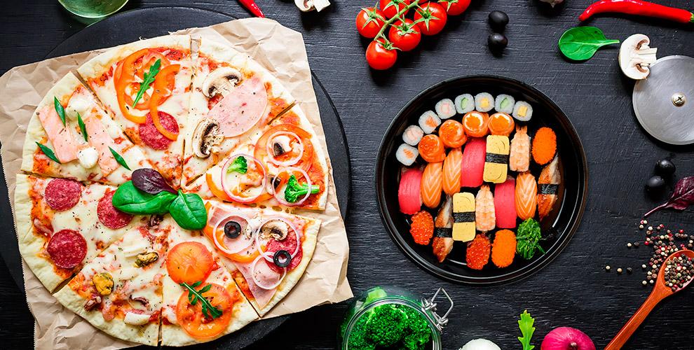 «Какаду»: пироги, пицца, торты, салаты, японское меню,  пельмени, манты на развес