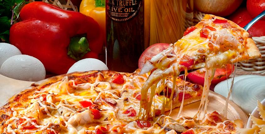 Всё меню итальянской, японской и европейской кухни от службы доставки Figaro pizza