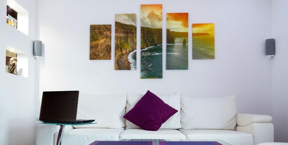 Фотообои, модульные картины, печать на натуральном холсте и другое в салоне «FотоКом»