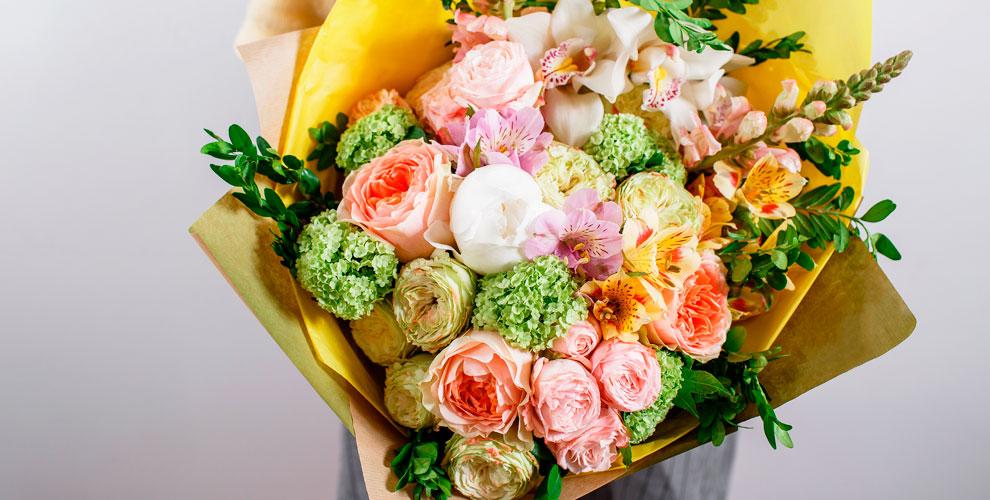 Розы, ирисы, тюльпаны, герберы, альстромерии, орхидеи в магазине цветов FLORA MARKET