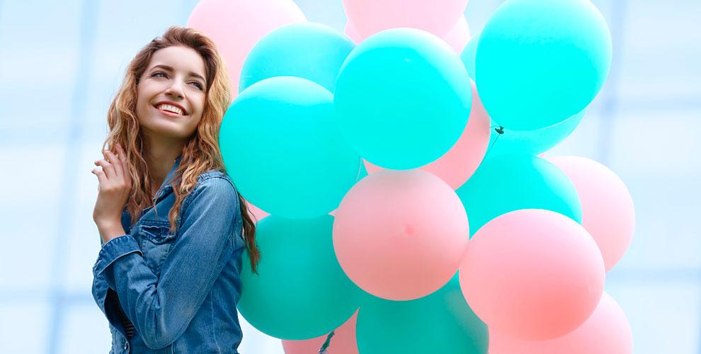 Фольгированные игелиевые шары, композиции встудии ярких эмоций «Ассорти»