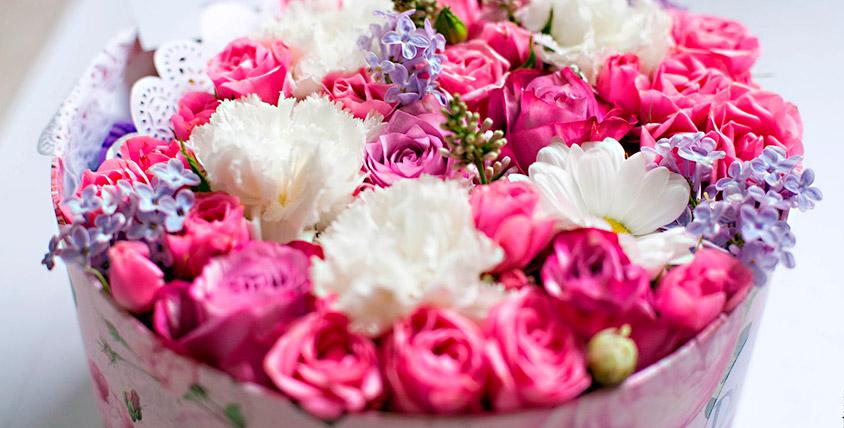 """Пионовидные розы, цветы в шляпной коробке, букеты и не только от магазина """"Дом Флористики"""""""