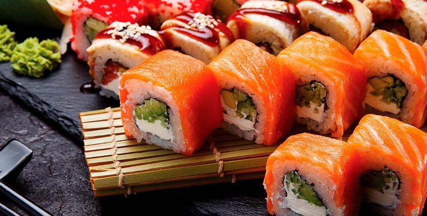 """Всё меню японской кухни и лапша Wok от службы доставки """"Кушай суши"""""""