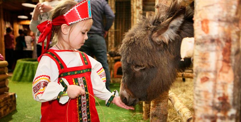 """Посещение конного клуба в контактном зоопарке """"Рога и Копыта"""""""