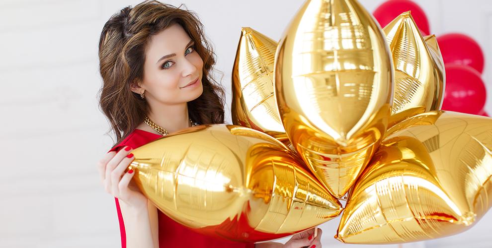 Гелиевые шары, композиции и фонтаны, выписка из роддома от агентства Sunny Day