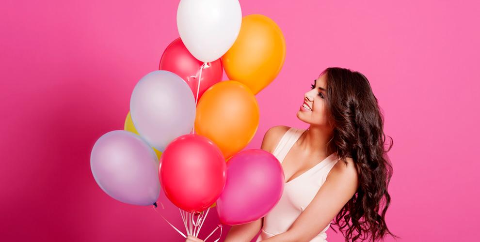 «Гелиевые и воздушные шары»: гелиевые шары, фольгированная цифра, сердце
