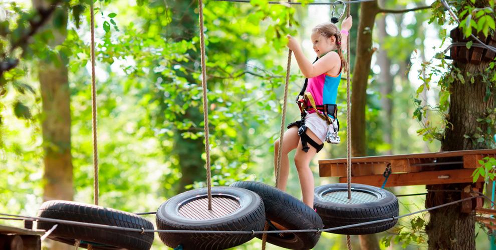 Посещение верёвочного парка «КРОНЫ» детей ивзрослых