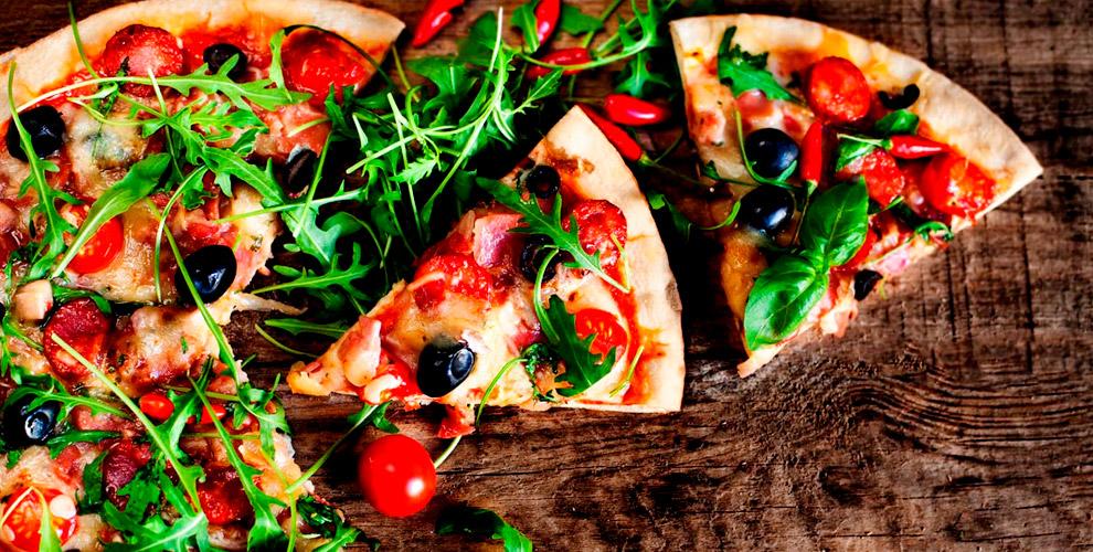 Разнообразное меню пиццы откомпании «Pizza счастья»