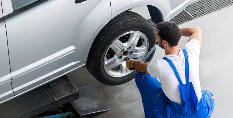 Шиномонтаж колес автомобилей в компании SOSavto