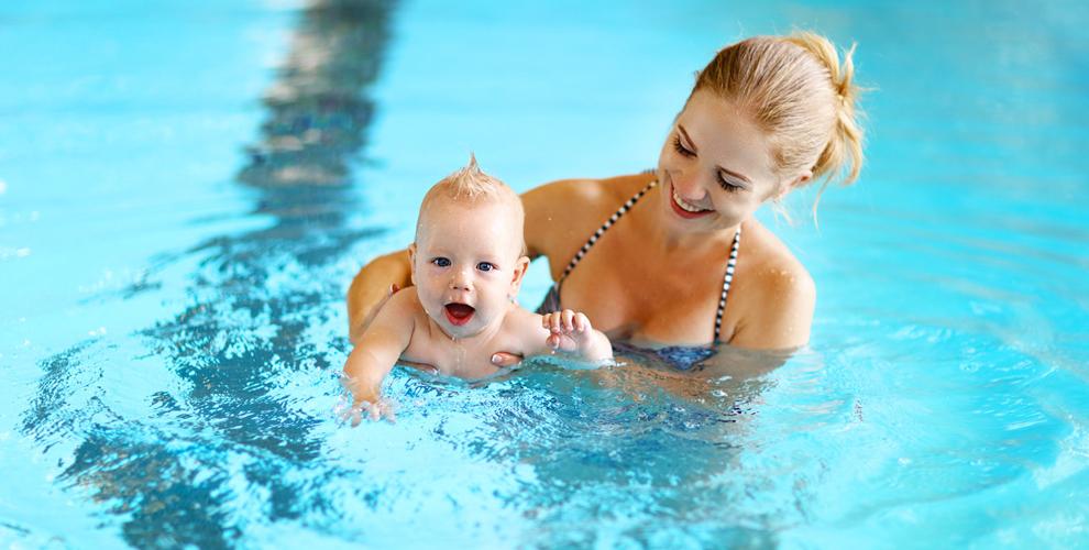 Абонементы и бесплатный пробный сеанс грудничкового плавания в центре «Водный мир»