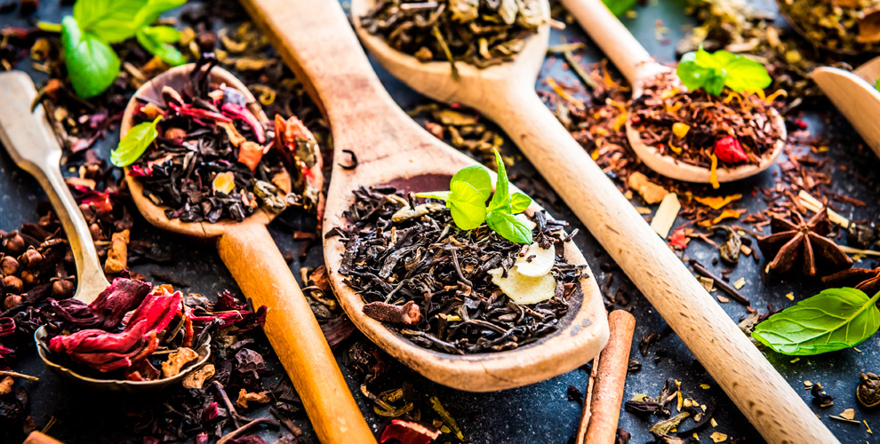 Ассортимент весового чаявмагазине «Чайный Остров»