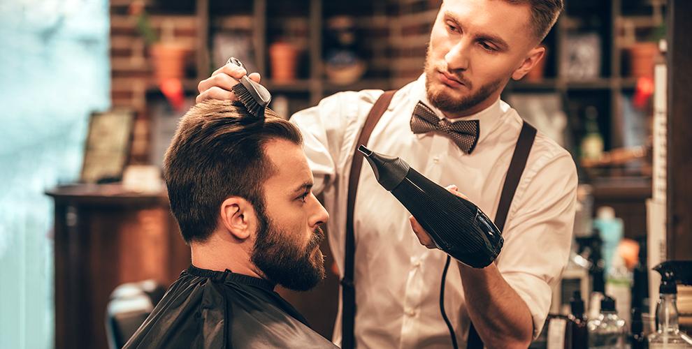 Мужская стрижка, бритье и оформление бороды в барбершопе SyndiCut