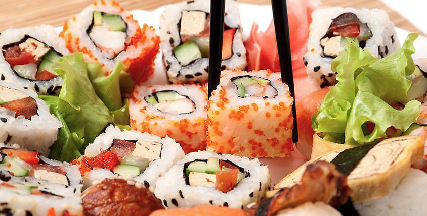 Не оставьте голоду ни единого шанса! Все меню японской кухни и осетинских пирогов от службы доставки Sushi - party.ru