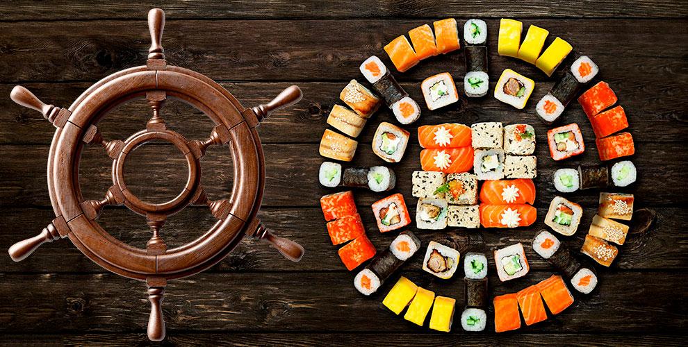 Суши, роллы, наборы и пицца от ресторана доставки «Адмирал Суши»
