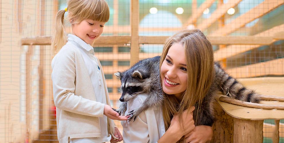 Посещение контактного зоопарка «Мир джунглей»