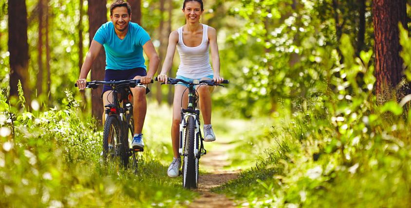 Вечерний или дневной прокат горных велосипедов и накачка шин от компании Sport House
