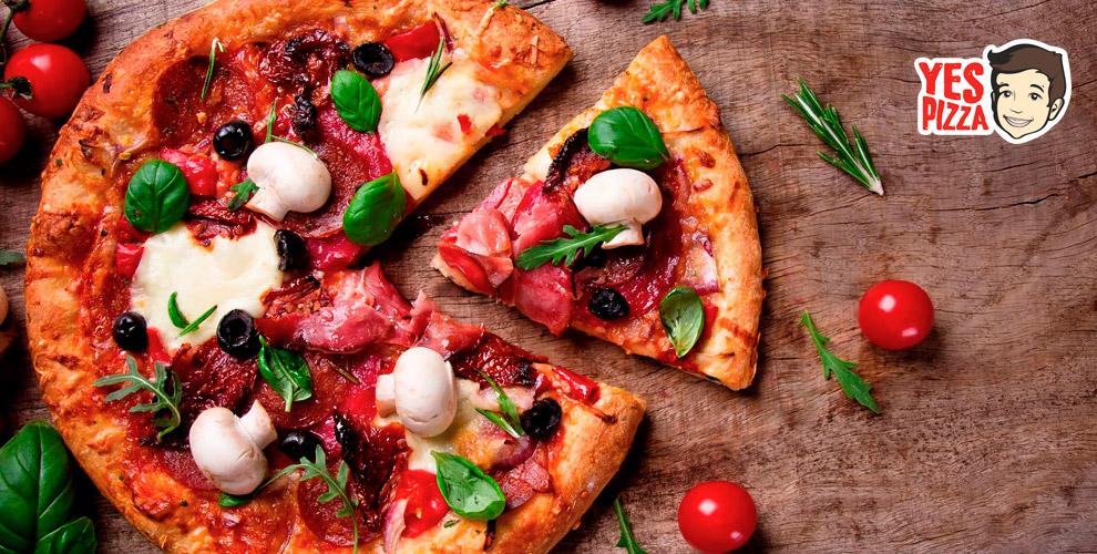 YesPizza: пиццы «Трисыра»,«Маргарита», «Мясная», «Барбекю» и«Гавайская»