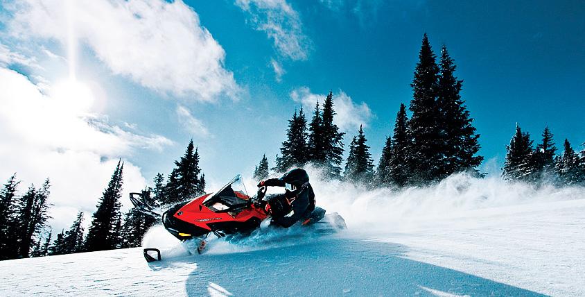 """Катание на снегоходах по различным маршрутам от компании """"Прокат снегоходов"""""""